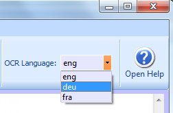 choose OCR language
