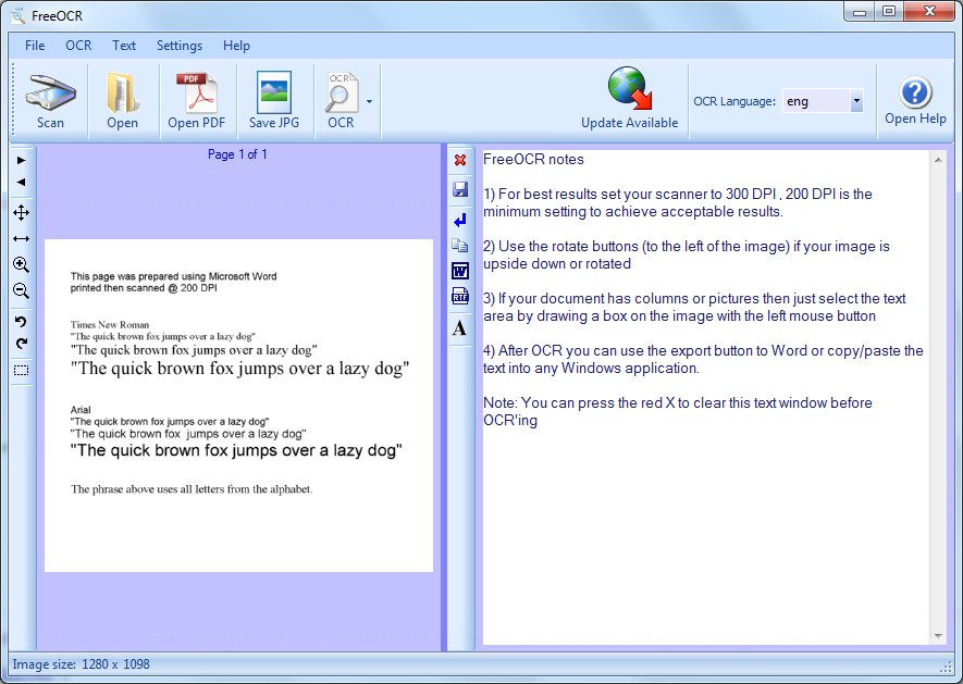 Click to view FreeOCR V4 4.2 screenshot